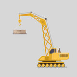 Lifting crane doing heavy lifting. Tower and harbor lifters. Stock Photography