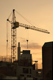 Lifting crane in evening Royalty Free Stock Images