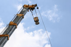 Lifting Crane on sky background Royalty Free Stock Images