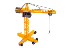 Lifting crane toy Royalty Free Stock Image