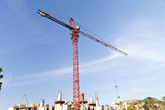 Lifting crane Royalty Free Stock Photography