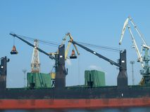 Lifting cranes Royalty Free Stock Image