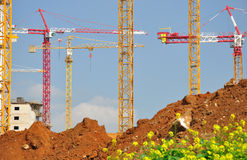 Lifting cranes. Stock Photography