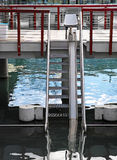 Lifting device for aquatic therapy. stock image