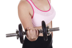 Lifting Dumbbell Stock Photo