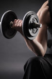 Lifting the dumbbells Royalty Free Stock Images