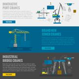 Lifting Equipment Banner Stock Photos