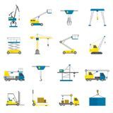 Lifting Equipment Flat Icon Set Royalty Free Stock Photography
