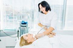 lifting facciale Non chirurgico Sollevamento di SMAS ultrasonico Ringiovanimento del viso fotografia stock