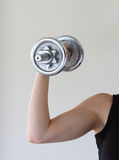 Lifting hand weight. Lifting weight stock image