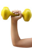 Lifting hand weight Stock Images