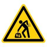 Lifting Hazard Symbol Sign Isolate On White Background,Vector Illustration. Accident, advice, area, compulsory, construction, correct, correctly, crane, crate royalty free illustration