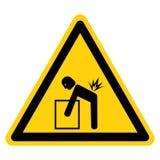 Lifting Hazard Symbol Sign Isolate On White Background,Vector Illustration. Accident, advice, area, box, compulsory, construction, correct, correctly, crane royalty free illustration