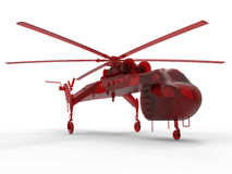Lifting helicopter illustration Stock Images