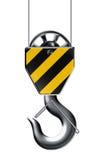 Lifting hook. Object on white background stock illustration