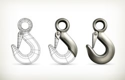 Lifting hook drawing Royalty Free Stock Photo