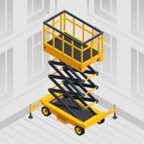 Lifting machine concept background, isometric style. Lifting machine concept background. Isometric illustration of lifting machine vector concept background for stock illustration