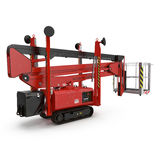 Lifting machine isolated on white. 3D illustration. Lifting machine isolated on white background. 3D illustration vector illustration