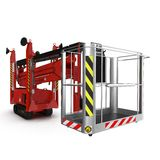 Lifting machine isolated on white. 3D illustration. Lifting machine isolated on white background. 3D illustration royalty free illustration