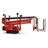 Lifting machine isolated on white. 3D illustration. Lifting machine isolated on white background. 3D illustration stock illustration