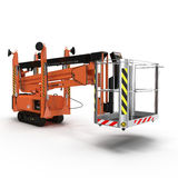 Lifting machine on white. 3D illustration. Lifting machine on white background. 3D illustration royalty free illustration