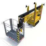 Lifting machine on white. 3D illustration, clipping path. Lifting machine on white background. 3D illustration, clipping path vector illustration