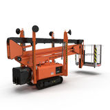 Lifting machine on white. Rear view. 3D illustration. Lifting machine on white background. Rear view. 3D illustration royalty free illustration
