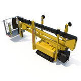 Lifting machine on white. Rear view. 3D illustration, clipping path. Lifting machine on white background. Rear view. 3D illustration, clipping path royalty free illustration