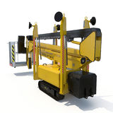 Lifting machine on white. Rear view. 3D illustration, clipping path. Lifting machine on white background. Rear view. 3D illustration, clipping path vector illustration