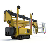 Lifting machine on white. Rear view. 3D illustration, clipping path. Lifting machine on white background. Rear view. 3D illustration, clipping path stock illustration