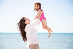 Lifting my little girl Royalty Free Stock Photos