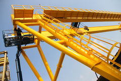 Lifting near crane Royalty Free Stock Photos