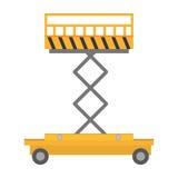 lifting platform trolley stock warehouse Stock Image