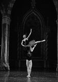 Lifting-The prince was enchanted with the black swan-The prince adult ceremony-ballet Swan Lake Stock Photo
