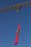 Lifting sandwich panel for the walls by crane Stock Images