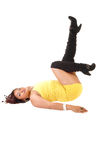 Lifting up leg. Stock Photography