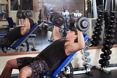 Lifting weight Royalty Free Stock Image