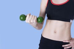 Lifting weights Royalty Free Stock Photography