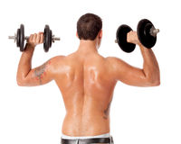 Lifting Weights Royalty Free Stock Images