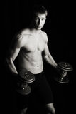 Lifting weights Royalty Free Stock Image