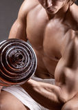 Lifting weights Stock Image