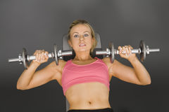 Lifting weights Royalty Free Stock Photos