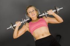 lifting weights Στοκ Φωτογραφία