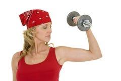 lifting weights Στοκ Εικόνα
