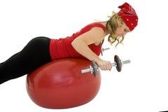 lifting weights Στοκ Εικόνες