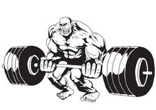 Lifting weights. Bodybuilder lifting weights Royalty Free Stock Photos