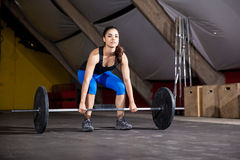 Lifting weights at a cross-training gym Royalty Free Stock Photo