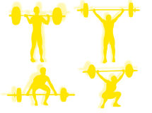 Lifting weights silhouette Royalty Free Stock Images