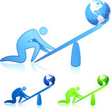 Lifting the world (leverage). Original  illustration: lifting the world (leverage Royalty Free Stock Photos