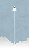 Liftoff de Rocket ilustração do vetor